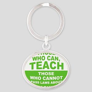 teachbutton2 Oval Keychain