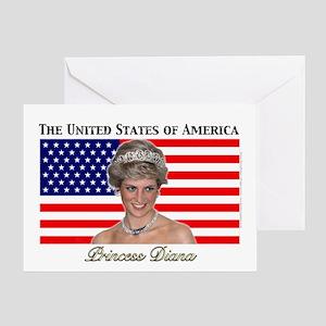 HRH Princess Diana USA. Greeting Card