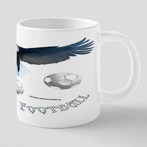 Argentine Soccer Eagle 20 oz Ceramic Mega Mug