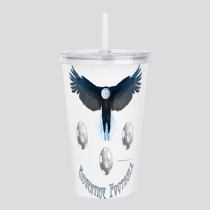 Argentine Soccer Eagle Acrylic Double-wall Tumbler