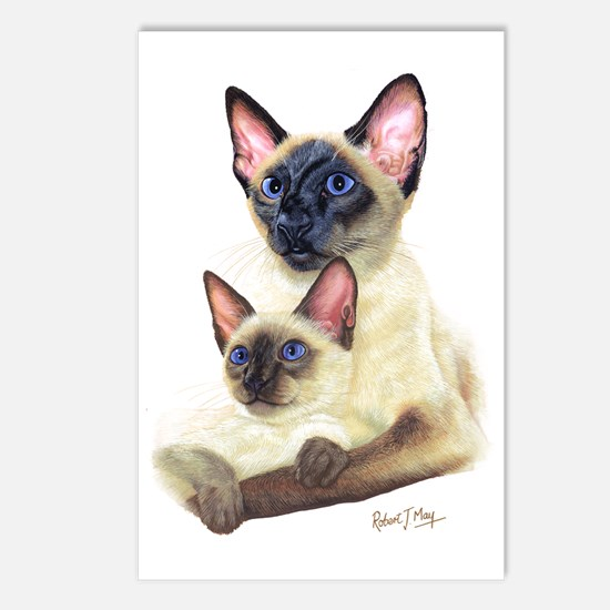 Siamese  Kit Postcards (Package of 8)