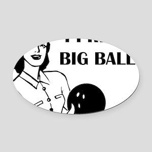 bowl75light Oval Car Magnet