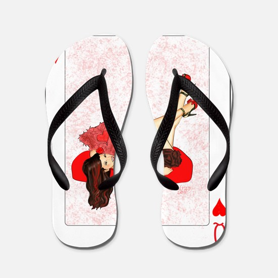 Queen of Hearts Pin-up Flip Flops