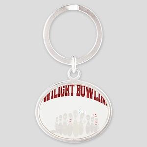 bowling79black Oval Keychain
