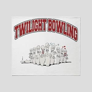 bowling79dark Throw Blanket