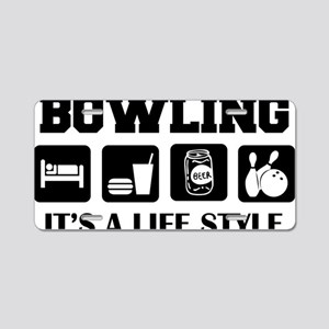 bowl74light Aluminum License Plate