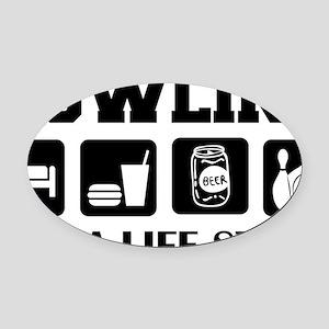 bowl74light Oval Car Magnet