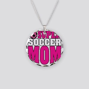 Super Soccer Mom Necklace Circle Charm