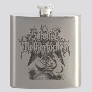 SATANIC-MF-WHITE Flask