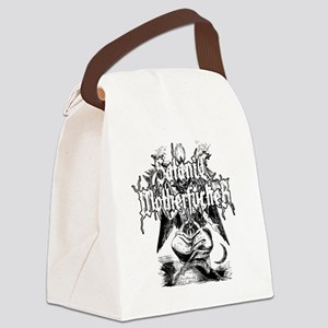 SATANIC-MF-WHITE Canvas Lunch Bag