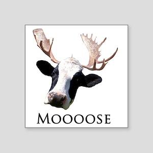 "moooose Square Sticker 3"" x 3"""