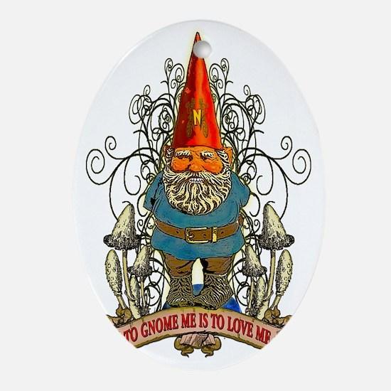 GNOME_4x6_apparel Oval Ornament