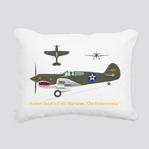 P-40_Co-Pilot_Front_TR Rectangular Canvas Pillow