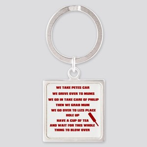shaunofthedead Square Keychain