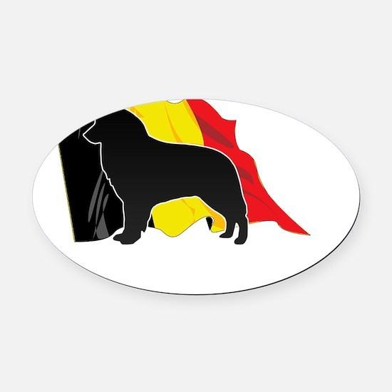 flag3 Oval Car Magnet