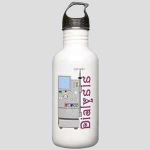 Dialysis 2 Pink Stainless Water Bottle 1.0L
