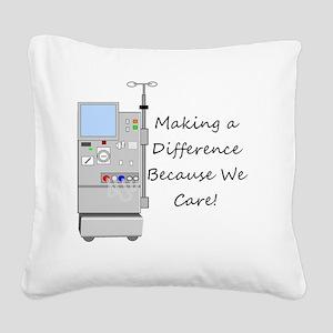 Dialysis 3 Square Canvas Pillow