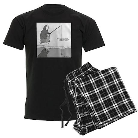 Ice Fishing Men's Dark Pajamas