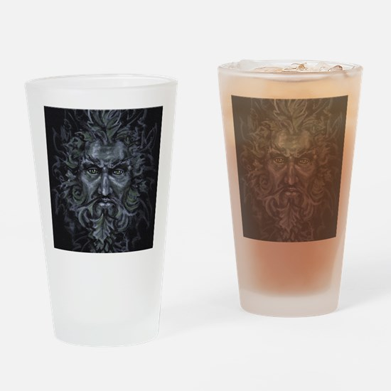 Green Man Drinking Glass