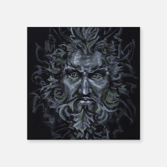 "Green Man Square Sticker 3"" x 3"""