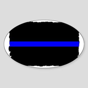 thin blue line rec 333333333 Sticker (Oval)