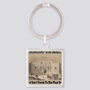 remember_the_alamo_1854_drawing_an Square Keychain