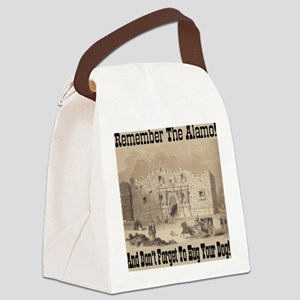 remember_the_alamo_1854_drawing_a Canvas Lunch Bag