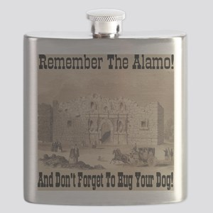 remember_the_alamo_1854_drawing_antique Flask