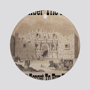 remember_the_alamo_1854_drawing_ant Round Ornament