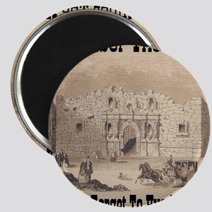 remember_the_alamo_1854_drawing_antique Magnet