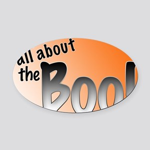 All About the Boo Oval Car Magnet