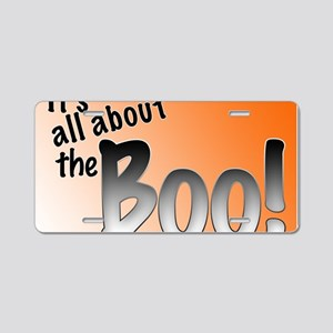 All About the Boo Aluminum License Plate