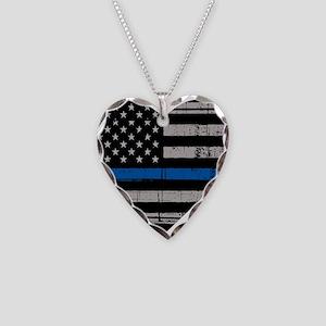 Shop Thin Blue Line Necklace Heart Charm