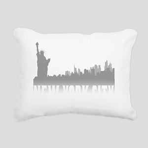 nyc(blk) Rectangular Canvas Pillow