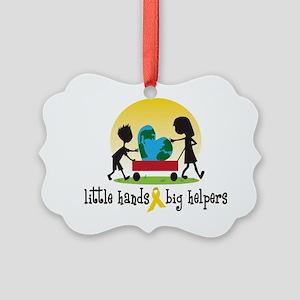 hr littleHands1 Picture Ornament