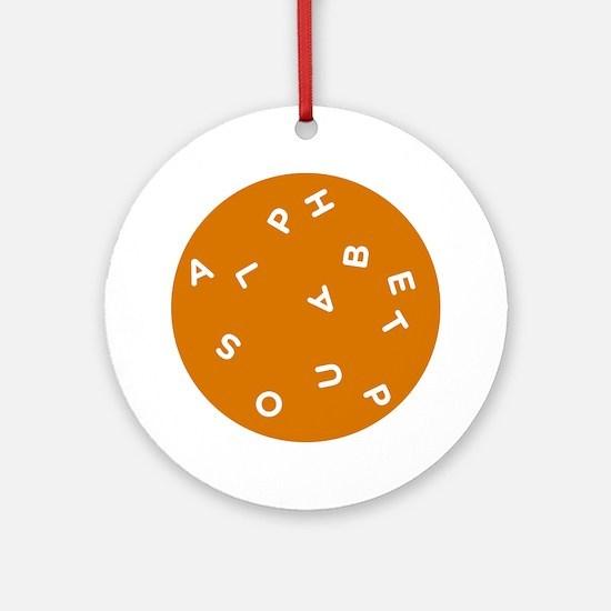 Alphabet Soup 1 Round Ornament