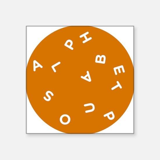 """Alphabet Soup 1 Square Sticker 3"""" x 3"""""""