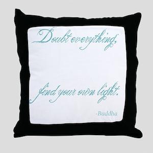 Light-Buddha Throw Pillow