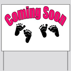coming soon twins Yard Sign