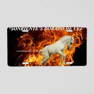 SONRIENTEFLAMES TEXTdesigne Aluminum License Plate