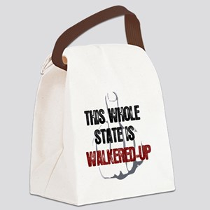 whole-state-is-walkered-up-FINGER Canvas Lunch Bag