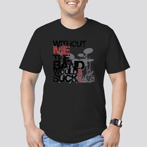 Without-Me-Band-Suckbk Men's Fitted T-Shirt (dark)