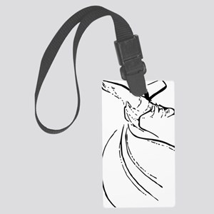 whirling dervish simple lines Large Luggage Tag
