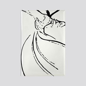 whirling dervish simple lines Rectangle Magnet