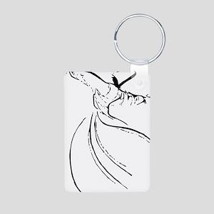 whirling dervish simple li Aluminum Photo Keychain