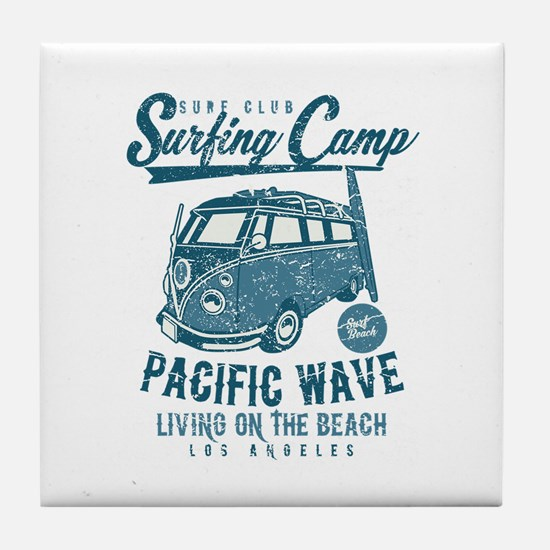 Surfing Camper Tile Coaster