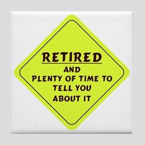 Retired Caution Sign Tile Coaster