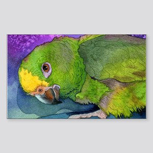 Yellow Headed Amazon Parrot Rectangle Sticker