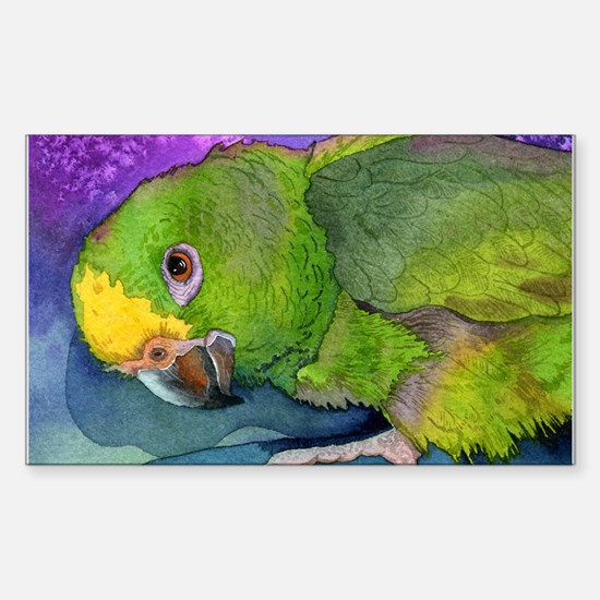 Yellow Headed Amazon Parrot Rectangle Decal