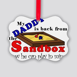 BackFromTheSandbox Picture Ornament